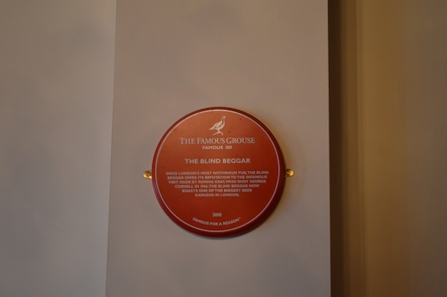 A plaque to the shooting.