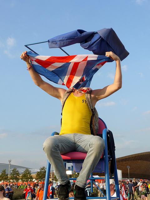 Flag Man by Paul Wood via flickr