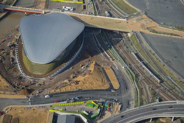 Redevelopment of the London 2012 Olympics Aquatic Centre, which will be open to the public from March 2014.