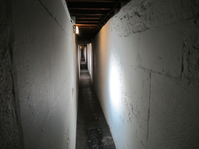 The interior of the cathedral is a maze of narrow passages and rooms.