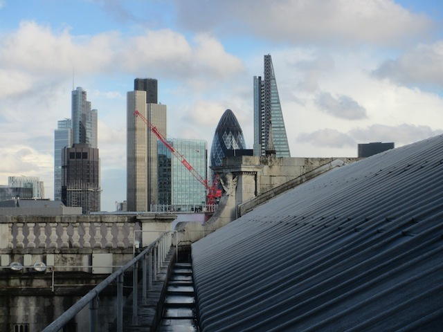 A view from a northern section of roof towards the City.