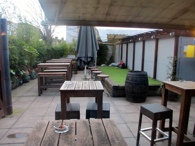 Not the best shot of the beer garden. But it is good.