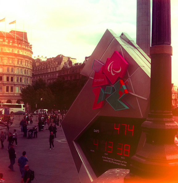 London 2012 Countdown Clock by Stuart Sunley via flickr