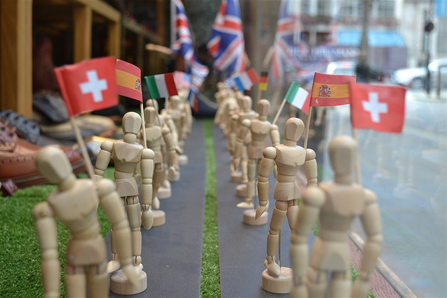 Model flag wavers by psyxjaw via flickr