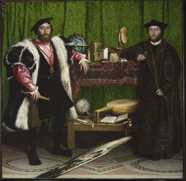 Hans Holbein the Younger (1497/8   1543) Jean de Dinteville and Georges de Selve ('The Ambassadors'), 1533 The National Gallery, London © The National Gallery, London