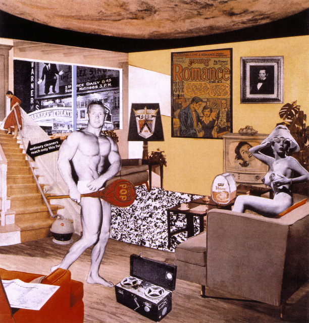 Richard Hamilton, Just what was it that made yesterday's homes so different, so appealing? 1992 Tate © Richard Hamilton 2005.