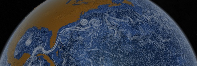 Visualisation of ocean currents by NASA. 2011