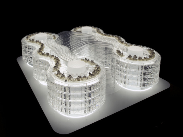 Biomimetic office building. Image courtesy Exploration Architecture.