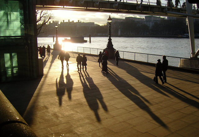 Southbank shadows by James Whitty on Flickr