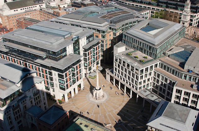 Shadow of St Paul's cathedral over Paternoster Square by Downtime_1882 on Flickr