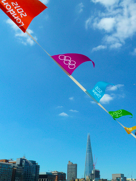 Shard and flags by Paul Taylor via flickr