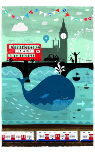 There's a Whale in the Thames! by Jessie Ford. The day the whale appeared in the Thames was a moment of great public intrigue. Seeing a whale in the Thames is not something you see every day and for a moment, London was captivated.