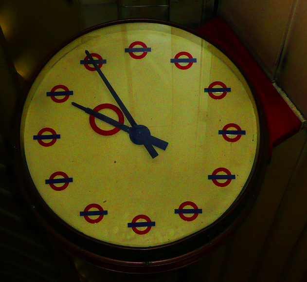 Underground Clock by Tyla via flickr