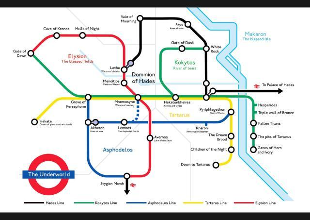 How to catch the tube to Hades.