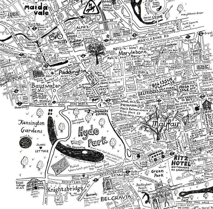 A Map Of Westminster That Took Over 100 Hours To Draw
