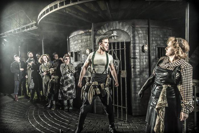 Richard Fleeshman stars in the London debut of Urinetown at the St James Theatre.