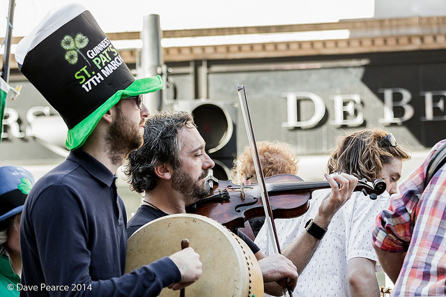 Musicians in the parade, by Dave Pearce on Flickr