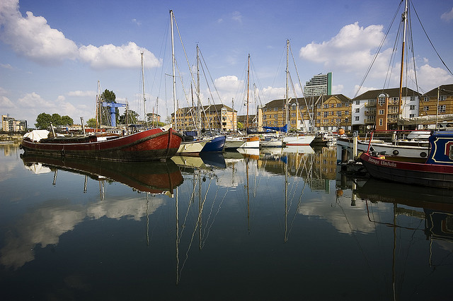 Greenland Dock in Rotherhithe by Joe Dunckley via Flickr