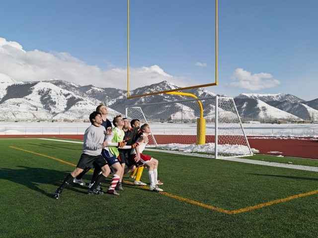 Soccer Practice, Star Valley Braves, Afton, Wyoming 2010. Image courtesy the artist and Michael Hoppen Contemporary