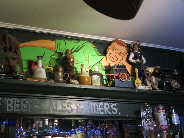 Beers, ales, ciders, reclining soldiers...this place has everything.