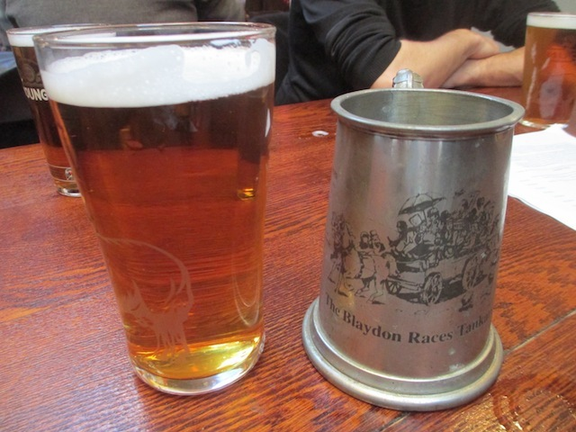 A Blaydon Races tankard. A bit of googling and we discover these are going for £11.23 on ebay.