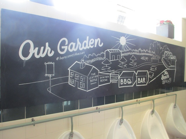 The gardens are so big that a map is provided while you pee.