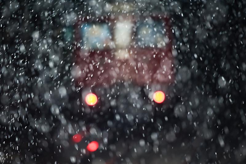 Tube in snow.
