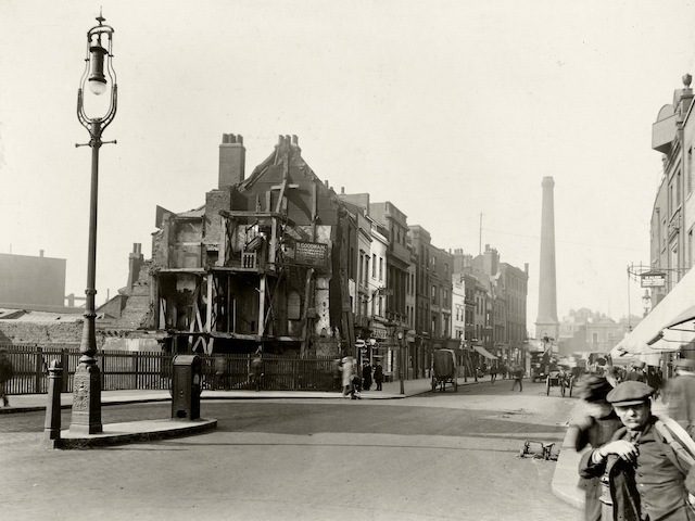 Norton Folgate looking towards the Crown Shoreditch Hight St.
