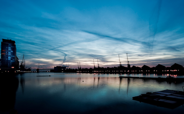 Sunrise at Royal Victoria Dock by Pete via Flickr