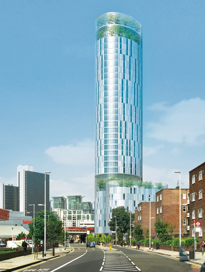 Sky Gardens Nine Elms: A 120 metre tower containing two communal gardens for residents, developed by Fraser Properties. It replaces a derelict warehouse. 178 homes, 41 'deemed 'affordable' (after considerable negotiation). Preparatory work is under way.