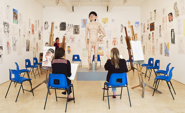 Life Model, David Shrigley, 2014. Installation view at Stephen Friedman Gallery, London. Photography Stephen White.