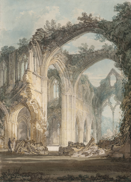 JMW Turner, Tintern Abbey: The Crossing and Chancel, Looking towards the East Window 1794 Tate