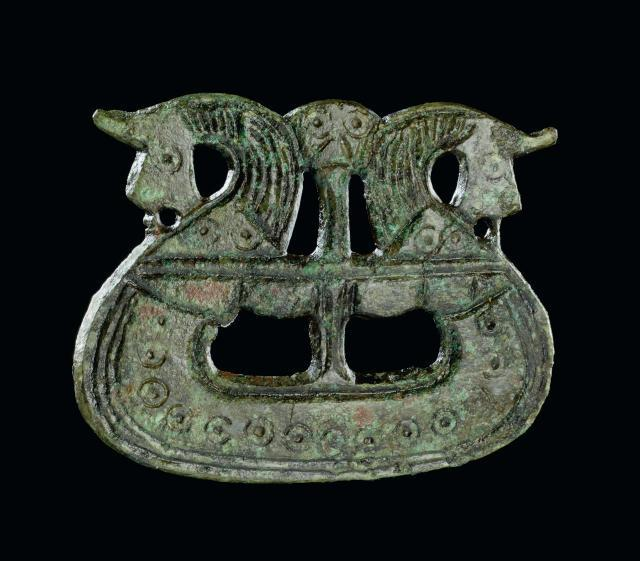Brooch shaped like a ship, 800-1050. Tjornehoj II, Fyn, Denmark. Copyright of The National Museum of Denmark