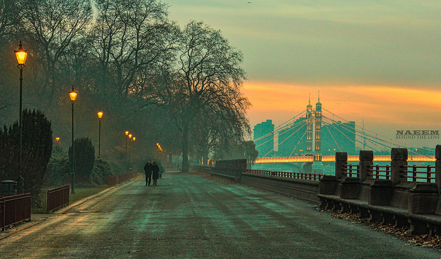 View of Albert Bridge from Battersea Park, by Naeem behind the lens on Flickr