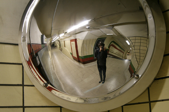 Selfie taken on the Bakerloo Line, by Ed takes photos on Flickr