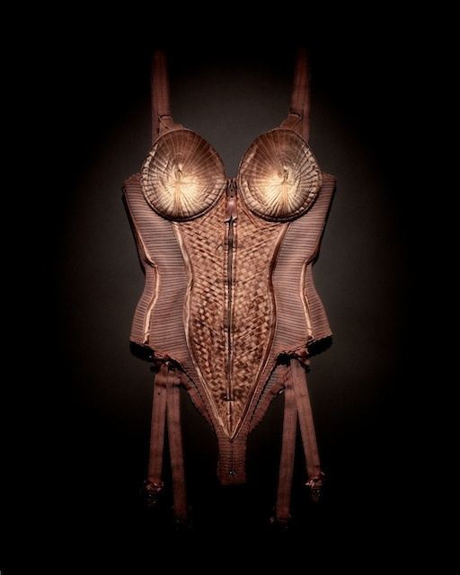 Body corset worn by Madonna, Blond Ambition World Tour, 1990. Dazed & Confused, April 2008 © Emil Larsson