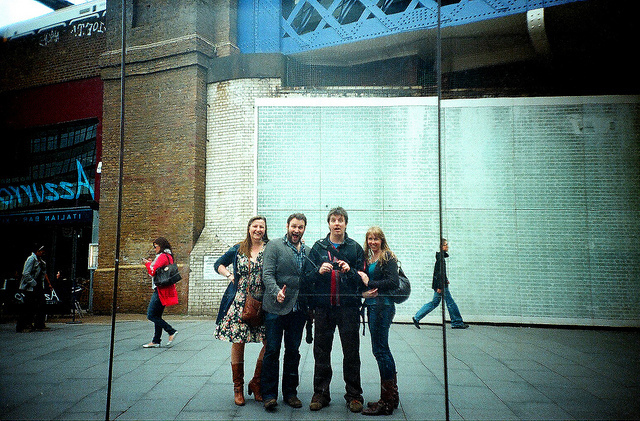 Group selfie close to Waterloo station, by Pete Repka on Flickr