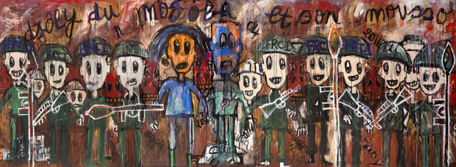 Aboudia Djoly du Mogoba 2011 © Aboudia, 2011 Image courtesy of the Saatchi Gallery, London