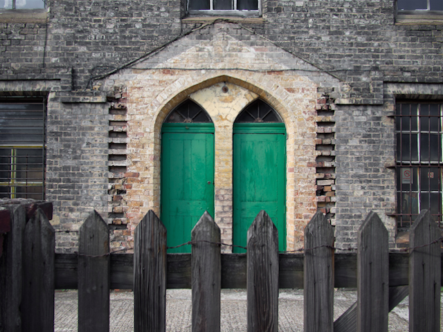 Green door in Stoke Newington, by Magic Pea on Flickr.