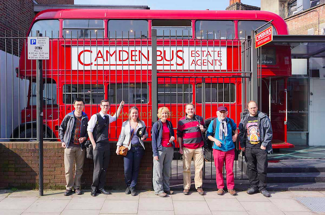 Camden Bus Estate Agents - founder and owner Charles Christie-Webb was working when we arrived and very kindly invited us in for a look around his magnificent bus. Photo: McTumshie
