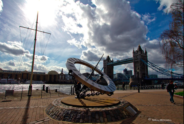 Sun dial, St Katharine's Docks by Time Traveller