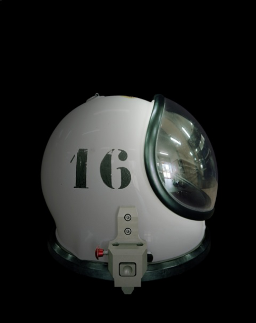 Helmet of a SCAPE suit, CGS-Europe's Spaceport (Kourou, French Guiana)