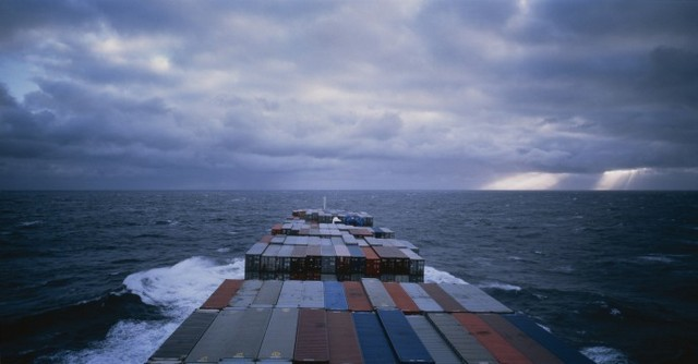 Allan Sekula, Panorama. Mid-Atlantic. (from Fish Story, Chapter 3), 1988-1995 edition of 5 (right side image of diptych). Image courtesy of the artist and Prix Pictet