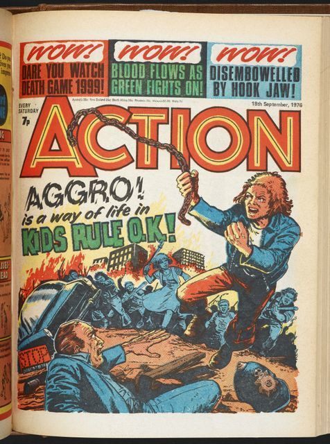 Action 1976-77 by Jack Adrian and Mike White. Action used with permission from Egmont UK Ltd