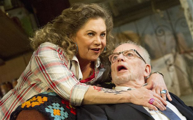 Bakersfield Mist performed at the Duchess Theatre...Bakersfield Mist at the Duchess Theatre Kathleen Turner as Maude, Ian McDiarmid as Lionel Alastair Muir