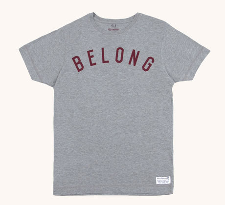MILLIONHANDS - BELONG TEE - GREY £23