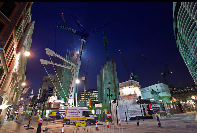Crane frenzy by ChrisLondon