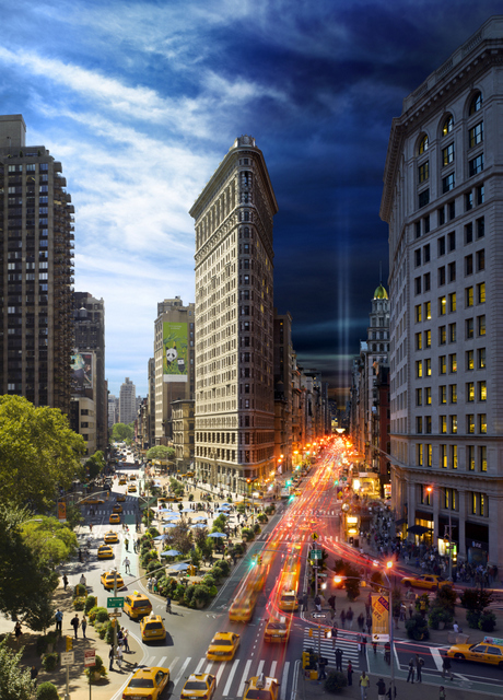 Stephen Wilkes. Flat Iron, 2010. Image courtesy of the artist and MEKA.