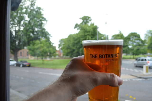 Toasting Kew Green.