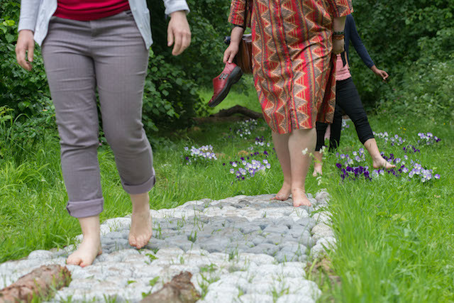 Take a Barefoot Walk along an outdoor trail